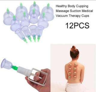 BNIB TCM DIY Chinese Great Medical Body Healthy Care 12Cups Kit Cupping Therapy Cups