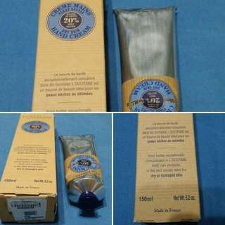 FREE SF!!! Authentic L'Occitane Hand Cream 20% Shea Butter