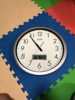 Rhythm 日本大型油壓針時鐘 LED日曆 掛鐘