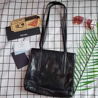 Prada 真皮單肩包返工袋handbag ol style