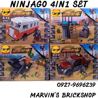 For Sale Military Soldiers Battlegrounds 4in1 Building Blocks Toys