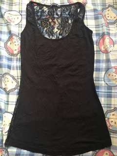Sexy Black lace vest tank top 黑色蕾絲背心