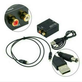 Ex-Stock BN Digital & Optic Coaxial Toslink to Analog Audio Converter for sale.