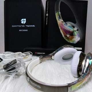 Authentic Monster Diamond Tears Edge Headphone New Complete Not Bose Beat Shure Skullcandy Jbl Pioneer Sony