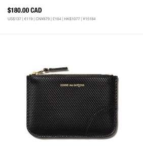 Comme des Garçons black wallet coins bag wallet card holder gift for him 父親節禮物 黑色散子包 卡片包 銀包