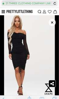 SIZE 8 black mesh dress