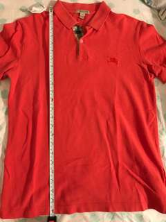 Burberry polo shirt size small orange