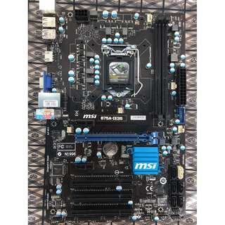 MSI B75A-IE35 Motherboard LGA 1150 ATX for I3/ i5/i7 4th Gen CPU