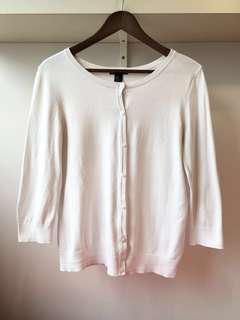 【包郵】H&M純白色棉質中袖外套