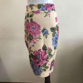 Neoprene Floral Skirt