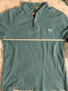 Burberry polo shirt tortoise blue size medium