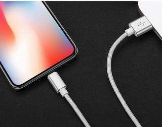 【兩條裝】快充蘋果數據線【0.25米長】方便和充電寶一起使用