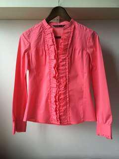 【包郵】高質靚款靚料MASTINA桃紅色恤衫