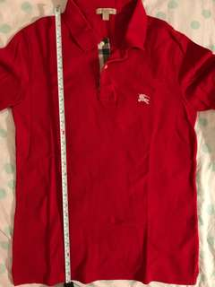 Burberry polo shirt size small red