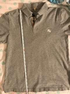 Burberry polo shirt grey