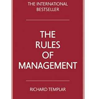 E-BOOK THE RULES OF MANAGEMENT - RICHARD TEMPLAR