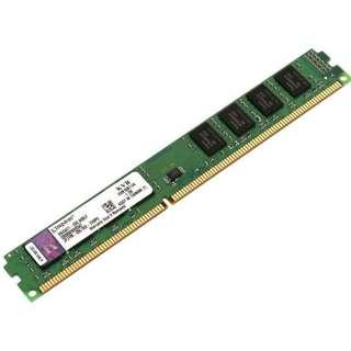🚚 Kingston 金士頓 DDR3 1333 4GB 窄版雙面 16顆粒 桌機記憶體 終生保固【拆機良品、售價為單支價】