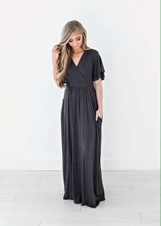 Maxi Dress with 2 side pocket