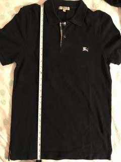 Burberry polo shirt black size small