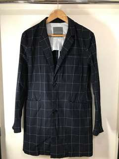 Lowry's Farm plaid boyfriend blazer