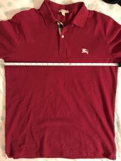 Burberry polo shirt raspberry size medium