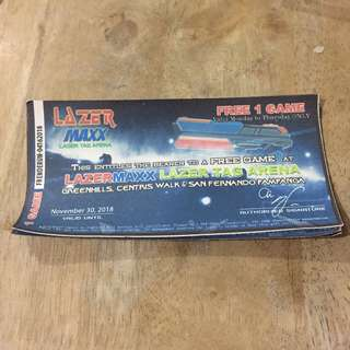 Lazer Tag Ticket