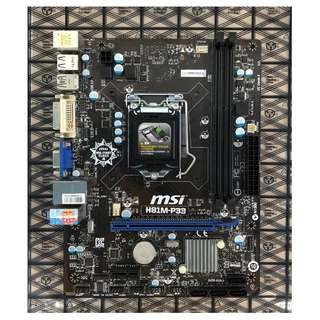 MSI H81m motherboard for LGA 1150 4th Gen i3/i5/i7 CPU