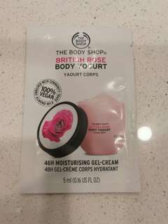 Brand New The Body Shop-Body Yogurt  Rose (1st pic) or Almond milk (2nd pic) or Strawberry (3rd pic)