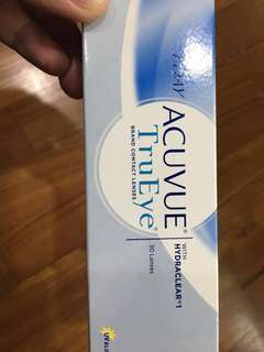 1 Day Acuvue trueye 5.75 x 3 boxes. Take all 3 for $100