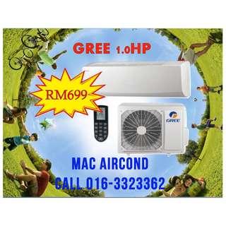 GREE Aircond HOT PRICE RM699 KL & SELANGOR