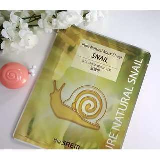 The Saem snail mask