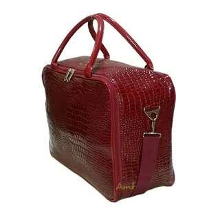 Travel bag bahan kulit besar ukuran 40 *27 *16 cm