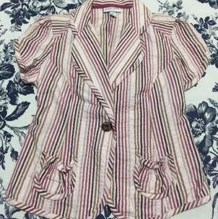 Double-breast Short sleeved blazer