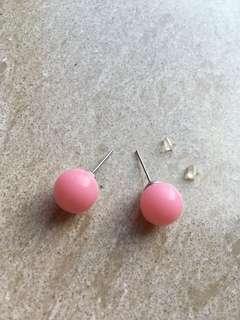 【全新包郵】粉紅色耳環