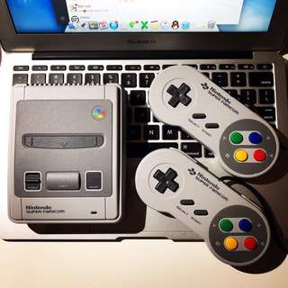 Classic Nintendo Game Station Super Famicom with Two GamePad Limited Edition Childhood Recalls