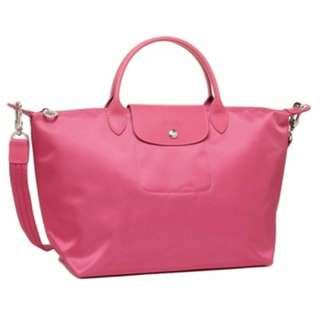 Brand New Authentic Longchamp Medium Le Pliage Neo - Pink / Crossbody Bag / Shoulder Bag / Sling Bag / Tote Bag / Top Handle