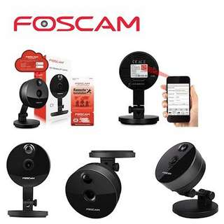 Foscam C1 Indoor HD 720P Wireless Plug and Play IP Camera with Night Vision Up to 26ft Super Wide 11