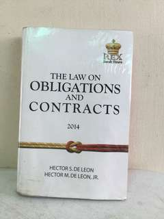 The Law on Obligations and Contracts 2014 Revised Edition REX Bookstore