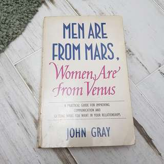 Men are from mars women are from venus booj