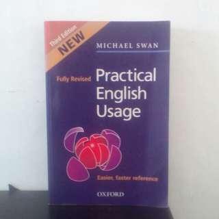Buku practical English Usage , third edition karya : Michael Swan