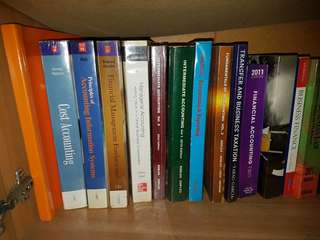 Accounting/Finance/Taxation Textbooks and CPA Reviewers