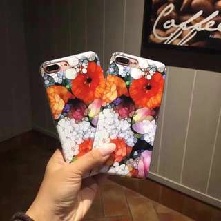 🌼C-1054 Floral IMD Case for iPhone🌼