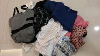 Collection of 15 Pieces of Woman's Clothes