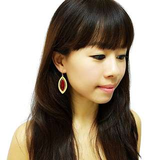 Scarlette Earrings - Handmade with precious natural stones  and real gold plating - ON SALE