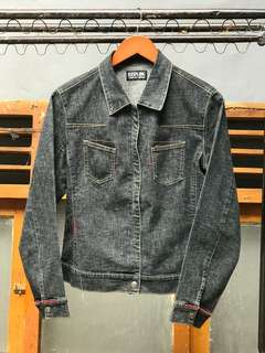 Jaket denim trucker made korea