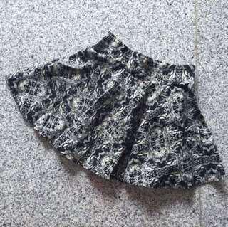 BN baroque print skater skirt