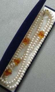 #KayaRaya Real Pearl Necklace with stone