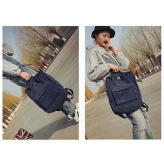 Brand New Korean Style Suede Rectangular Backpack / Unisex School Bag / KanKen Bag