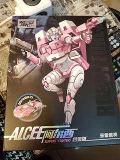 Wei Jiang Alcee (Arcee) Transformers Masterpiece scale (Back in Box). Autobot stickers applied. Great condition, never transformed back in box. Displayed only