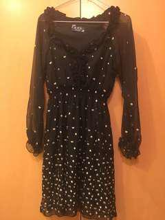Sexy chiffon black dress